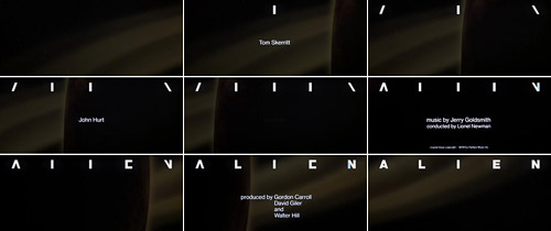 Alien title sequence