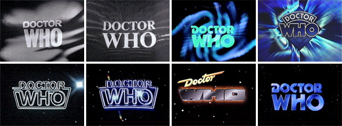 Doctor Who logos through the years