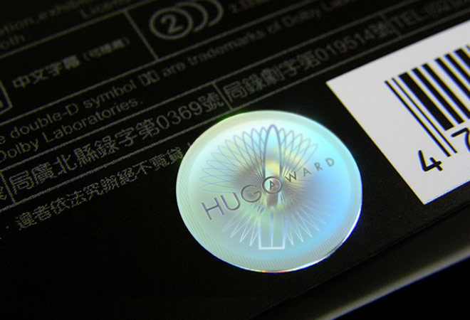 Hugo Award DVD hologram reverse