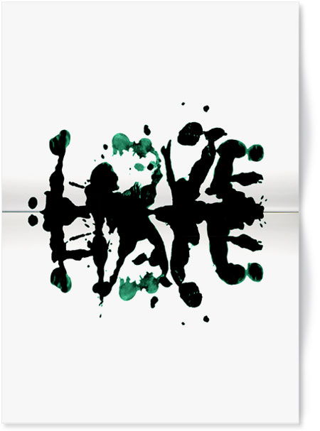 Love | Hate Ink Blot