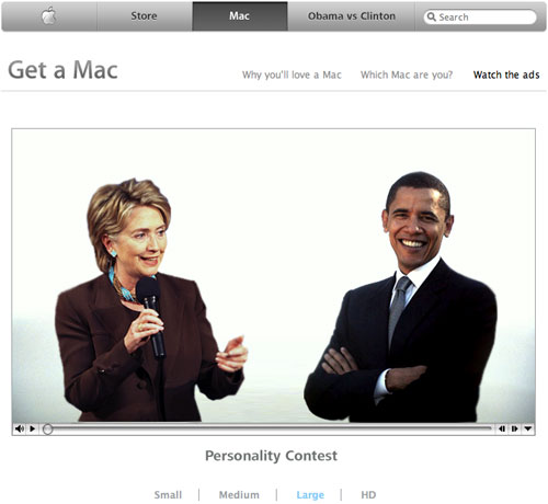 Obama is a Mac, Clinton is a PC