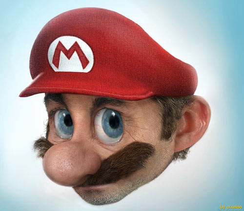 Real Mario by Pixeloo