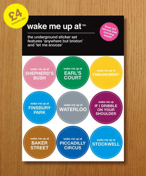 Wake Me Up Tube Stickers