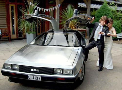 weddingdelorean